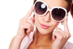 Big sunglasses Royalty Free Stock Image