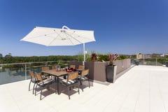 Penthouse balcony Royalty Free Stock Photography
