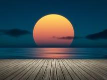 Big sunset Stock Photos