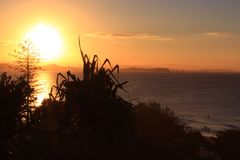 Big sunset Stock Photography