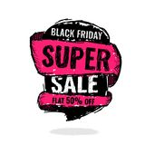 Big super sale, flat 50 off. Vector illustration. Today Only Mega Sale banner. Big super sale, flat 50 off. Vector illustration. shopping,  sign,  sketches Stock Photos