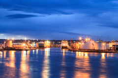 Big supply boats in Aberdeen harbor on 27 January 2016. Stock Photography