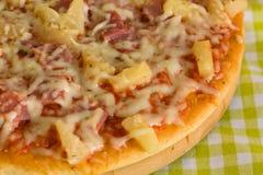Big Supreme Pizza in pan Royalty Free Stock Photo