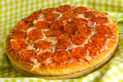 Big Supreme Pizza in pan Royalty Free Stock Photos