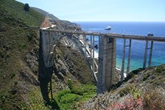 Big Sur. Bridge in Big Sur, California Stock Photos