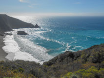 Big Sur beach California. Big Sur beach on the Pacific Ocean in California USA Stock Photos