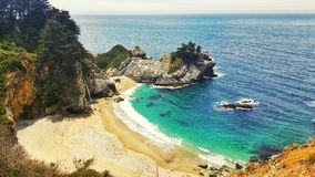 Big Sur beach in california USA. On a sunny day stock image