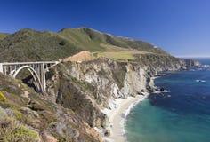 Big Sur, Bixby Bridge, California shoreline Stock Images