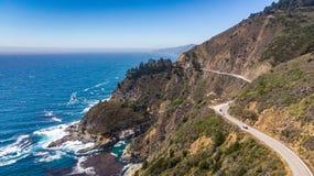 Big Sur, Califórnia de cima de fotografia de stock royalty free