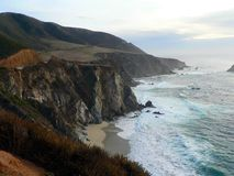 Big Sur, California. A view of the coastline in Big Sur, California, looking south Royalty Free Stock Photo