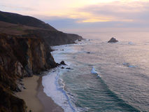 Big Sur, California. A view of the coastline in Big Sur, California, looking south Stock Photo