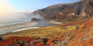 Big Sur, California. Big Sur Califronia with the summertime fog royalty free stock images