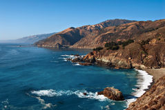 Big Sur, California Coast. The dramatic Big Sur on the central coast of California provides an inspiring shoreline on the Pacific Ocean which is a popular royalty free stock image