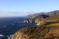 Big Sur California Coast. Big Sur and Bixby Bridge on sunset. California Coast royalty free stock image