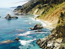 Big sur California coast sun nature water Royalty Free Stock Photography