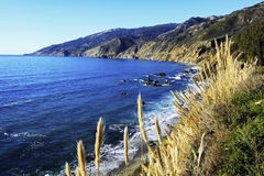 Big Sur California Coastline. Along the Pacific Coast Highway in beautiful Big Sur, California Stock Photography