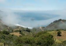 Beautiful Big Sur coast in fog Royalty Free Stock Photos
