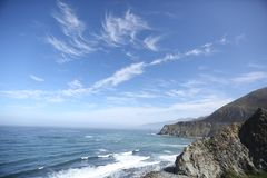 Big Sur california coastline Royalty Free Stock Images