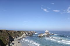Big Sur california coastline Stock Image