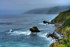 Big Sur California. Cool and foggy morning at Big Sur California stock photography