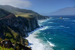 Big Sur California. Hazy day pacific ocean Big Sur California royalty free stock images