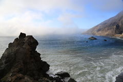 Big Sur, California. Overview of foggy coastline along highway 2 Big Sur, California Stock Photos