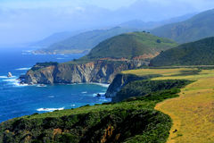 Big Sur California. Pacific Ocean Big Sur California cloudy day royalty free stock image