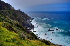 Big Sur California. Pacific Ocean Big Sur California cloudy day royalty free stock photos
