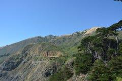 Big Sur Central Coast California gorgeous coastline. Rocky coastline with aqua blue pacific ocean and scenic coastal highway 1 Royalty Free Stock Images