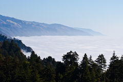 Big Sur Clouds, Nepenthe Stock Image