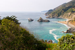 Big Sur coast. Beautiful Big Sur coast royalty free stock photography