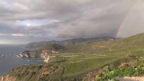 Big Sur Coast Rainbow stock footage