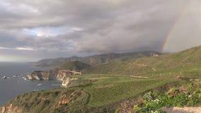Big Sur Coast Rainbow stock footage