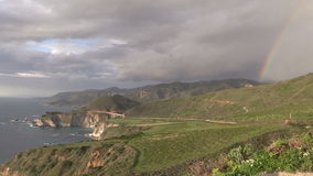 Big Sur Coast Rainbow Zoom In stock footage