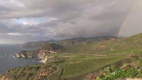 Big Sur Coast Rainbow Zoom In stock footage