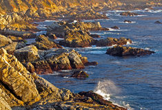 Big sur coast at sunset Stock Photo