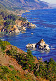 The Big Sur Coastline California. The Rugged Coast of Big Sur, California Stock Photography