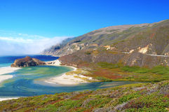 Big Sur Coastline California. The Rugged Coast of Big Sur, California royalty free stock image