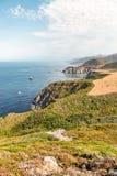 Big Sur Coastline near Monterey, CA Royalty Free Stock Images
