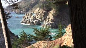 Big Sur Coastline stock video footage