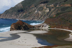 Big Sur en California central fotografía de archivo