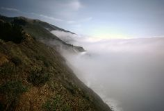 Big Sur Fog Bank Stock Photography