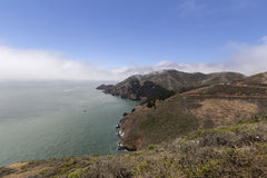 Big Sur Foggy Mountain Vista Stock Photos