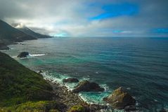 Big Sur. Big Rocks and Big Sur Coast along the coast of California Royalty Free Stock Images