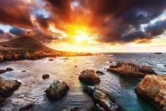 Big Sur rocks Royalty Free Stock Photography
