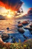 Big Sur rocks Stock Images