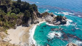 Big Sur, California from above royalty free stock images