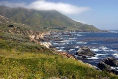 Big Sur Scene. Ry in California, U.S.A stock photo