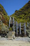 Big Sur Stairway. A stairway found leading to Shell Beach in Big Sur, CA Royalty Free Stock Images