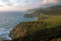 Big Sur in sunset Royalty Free Stock Images